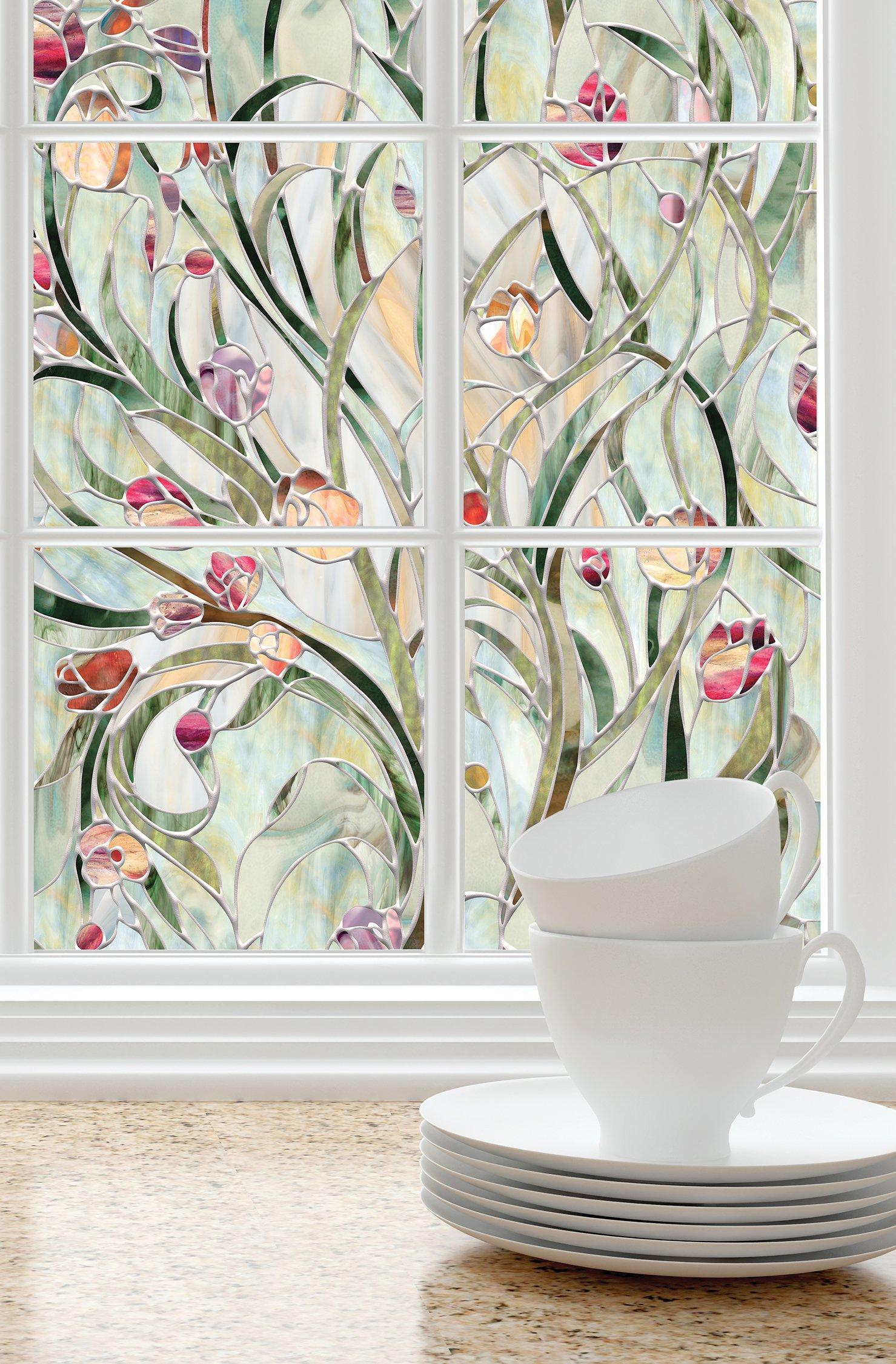 Artscape, 01-0156, 24 in. W x 36 in. H Spanish GardenDecorative Window Film
