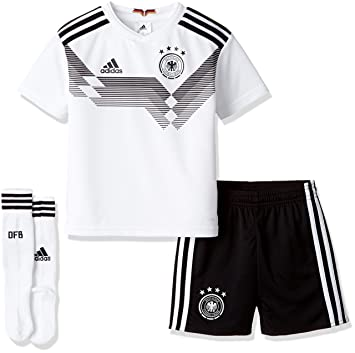 87d6afc1fb4 adidas D04268 Children s German National Team Football Minikit WM 2018 Home  Jersey   Shorts