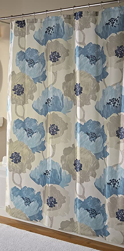 Amazon Mstyle Poppies Shower Curtain Aqua Home Kitchen