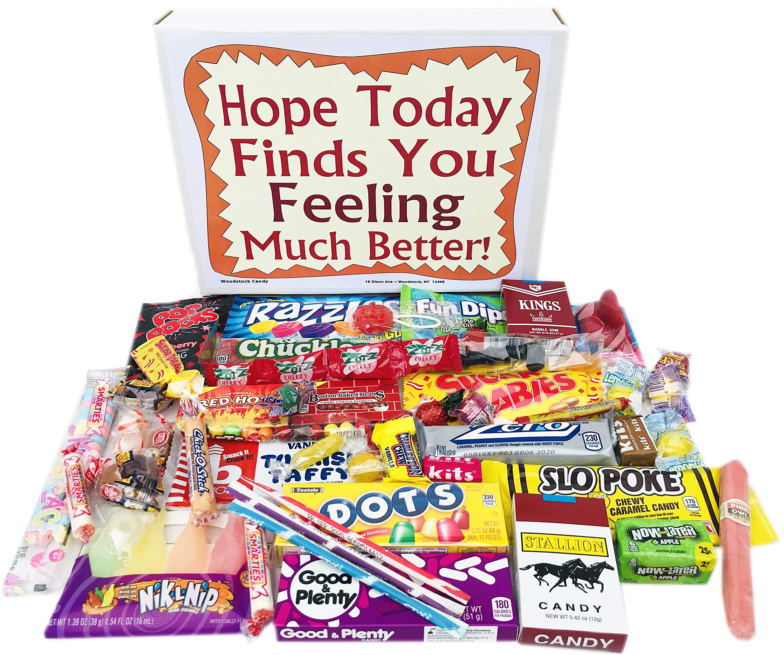 Woodstock Candy Feel Better Soon Care Package for Kids Men or Women - Get Well Gift Box of Retro Nostalgic Candy by Woodstock Candy