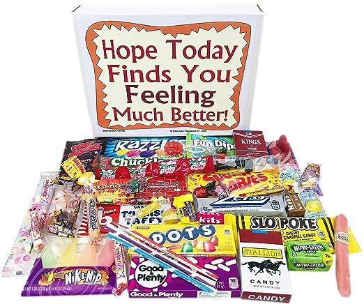 Caja de regalo de golosinas retro cuidado para sentirse ...