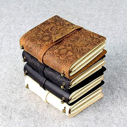 Amazon.com : Genuine Leather Notebook Travelers Journal ...