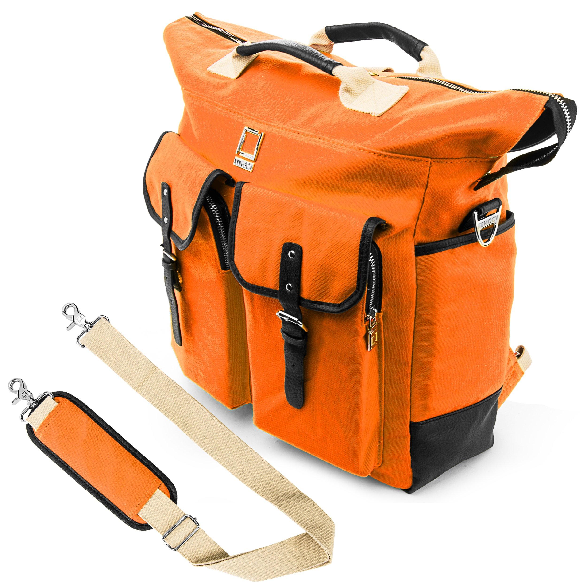 Lencca Universal Hybrid 3 in 1Design Carrying / Tote / Messenger / Crossbody / Backpack / Shoulder Bag for Acer Aspire V15 VN7-591G / Aspire E E5-521 / E5-571 / ES1-512 Series 15.6 inch Fit up to 15.6 inch Notebook / Google Chromebook / Ultrabook / Laptop