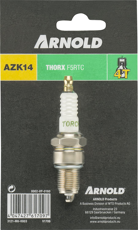 /0003/Buj/ía para MTD Cortac/ésped Motores tipo f5rtc y f6rtc Arnold 3121/de M6/