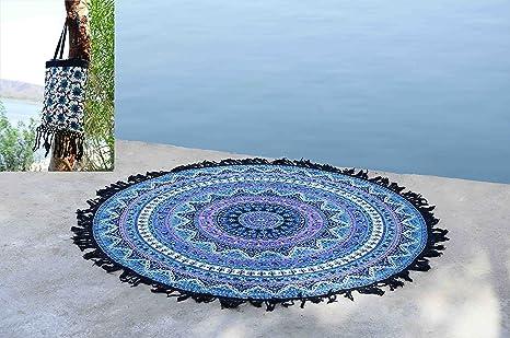 Amazon.com: Tassel Fringe Roundie Mandala playa manta ...