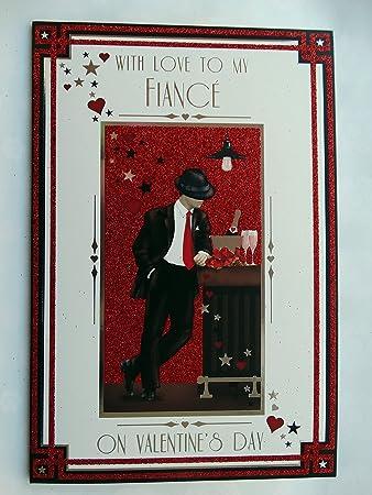 mit Love to my Fiance Art Deco Man Bar Design Design Valentinstag ...
