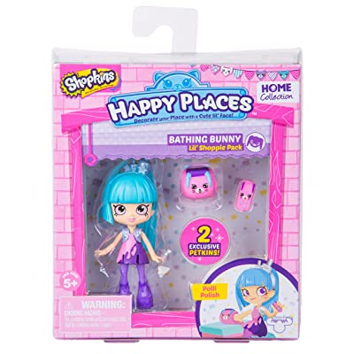 Shopkins Happy Places Season 2 Doll Single Pack Polli Polish Toy: Toys & Games