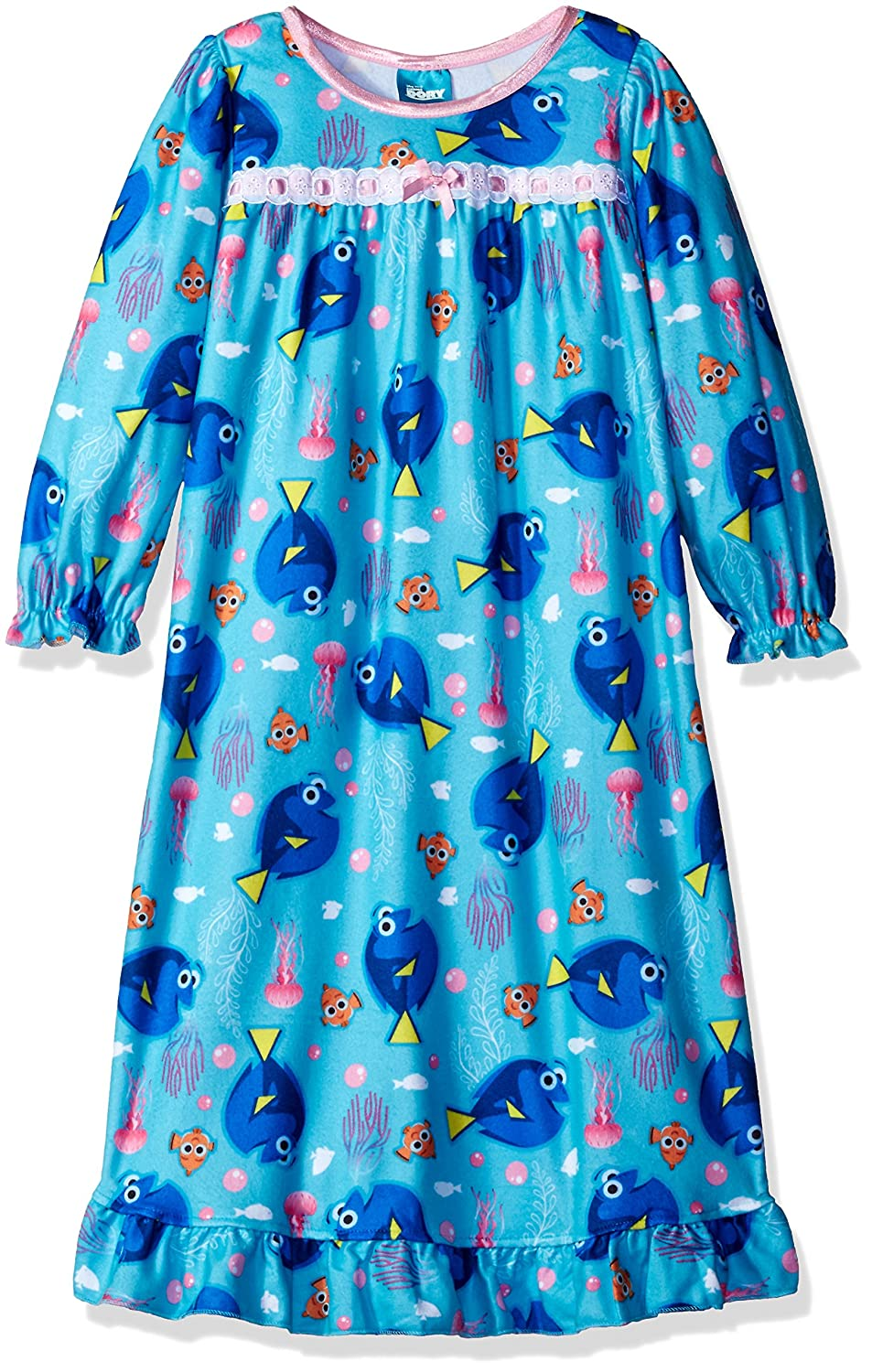 Amazon.com  Finding Dory Nemo Girls Flannel Granny Gown Nightgown Pajamas ( Little Kid Big Kid)  Clothing 5ee017db5