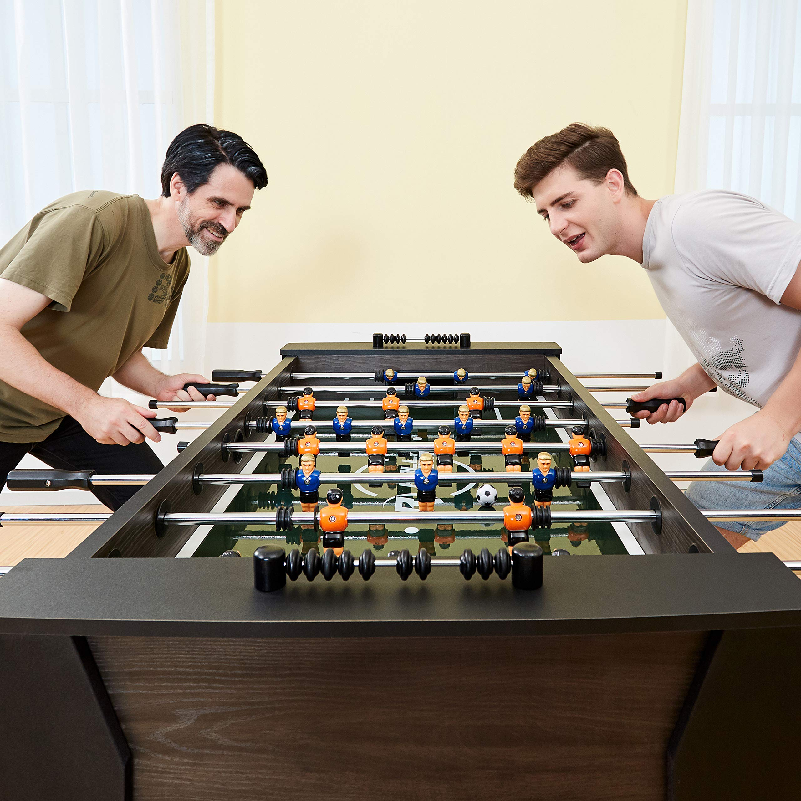 """Rally and Roar Foosball Table Game – 56"""" Standard Size Fun, Multi Person Table Soccer Adults, Kids - Recreational Foosball Games Game Rooms, Arcades, Bars, Parties, Family Night by Rally and Roar (Image #13)"""