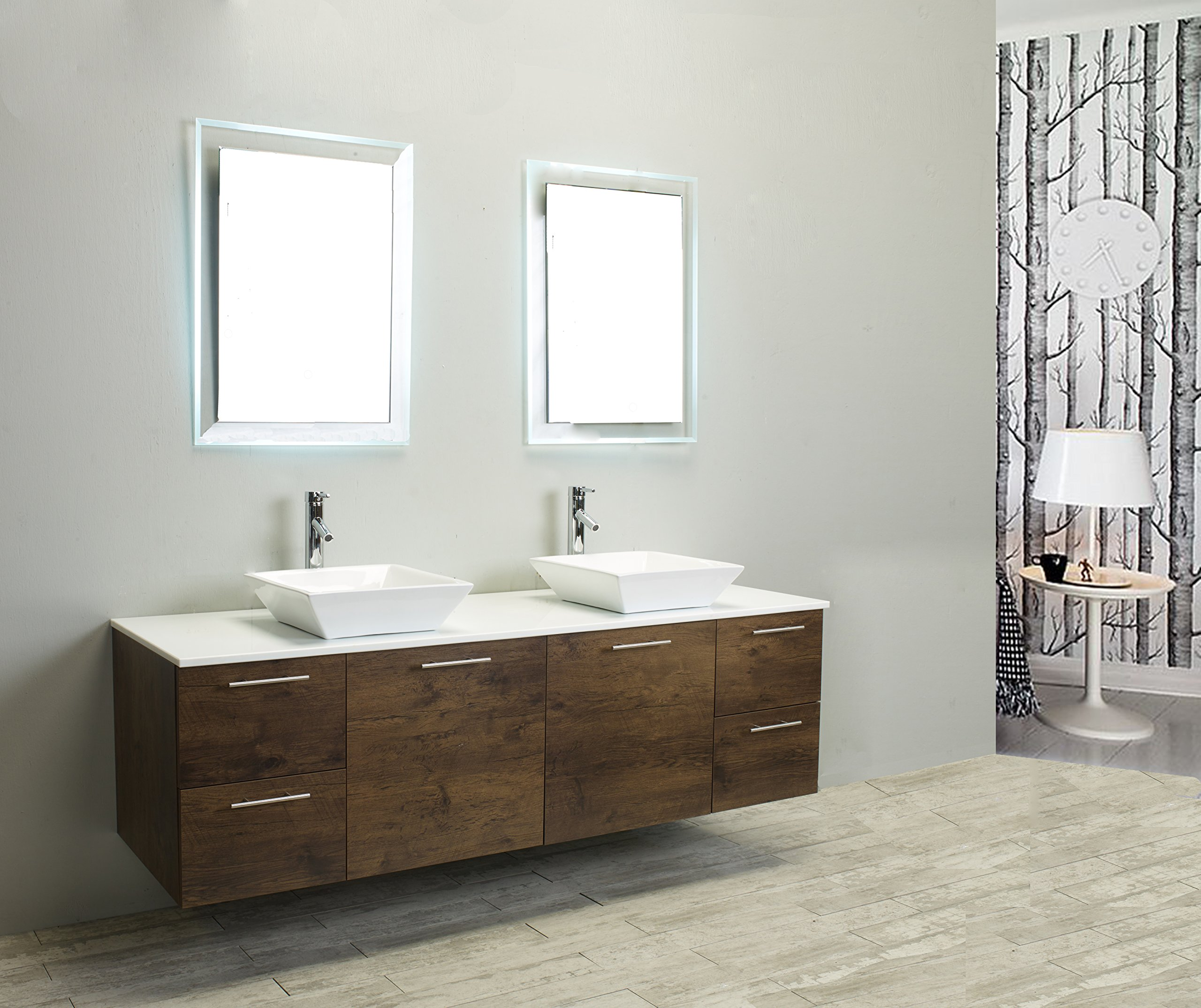Eviva Luxury 72-inch Rosewood bathroom cabinet only by Eviva (Image #2)