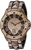 Vince Camuto Women's VC/5161RGBN Topaz Swarovski Crystal Accented Brown Bracelet Watch