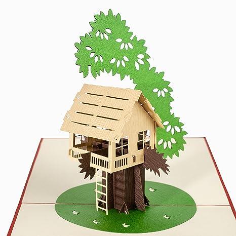 Amazon.com: L Atelier de cartes casa en el árbol tarjeta de ...