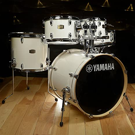 Amazon Com Yamaha Stage Custom Birth 5 Piece Drum Kit Pure White