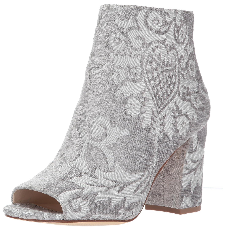 Nine West Women's Haywood Fabric Ankle Boot B072XLSZ7F 9 B(M) US|Light Grey Fabric