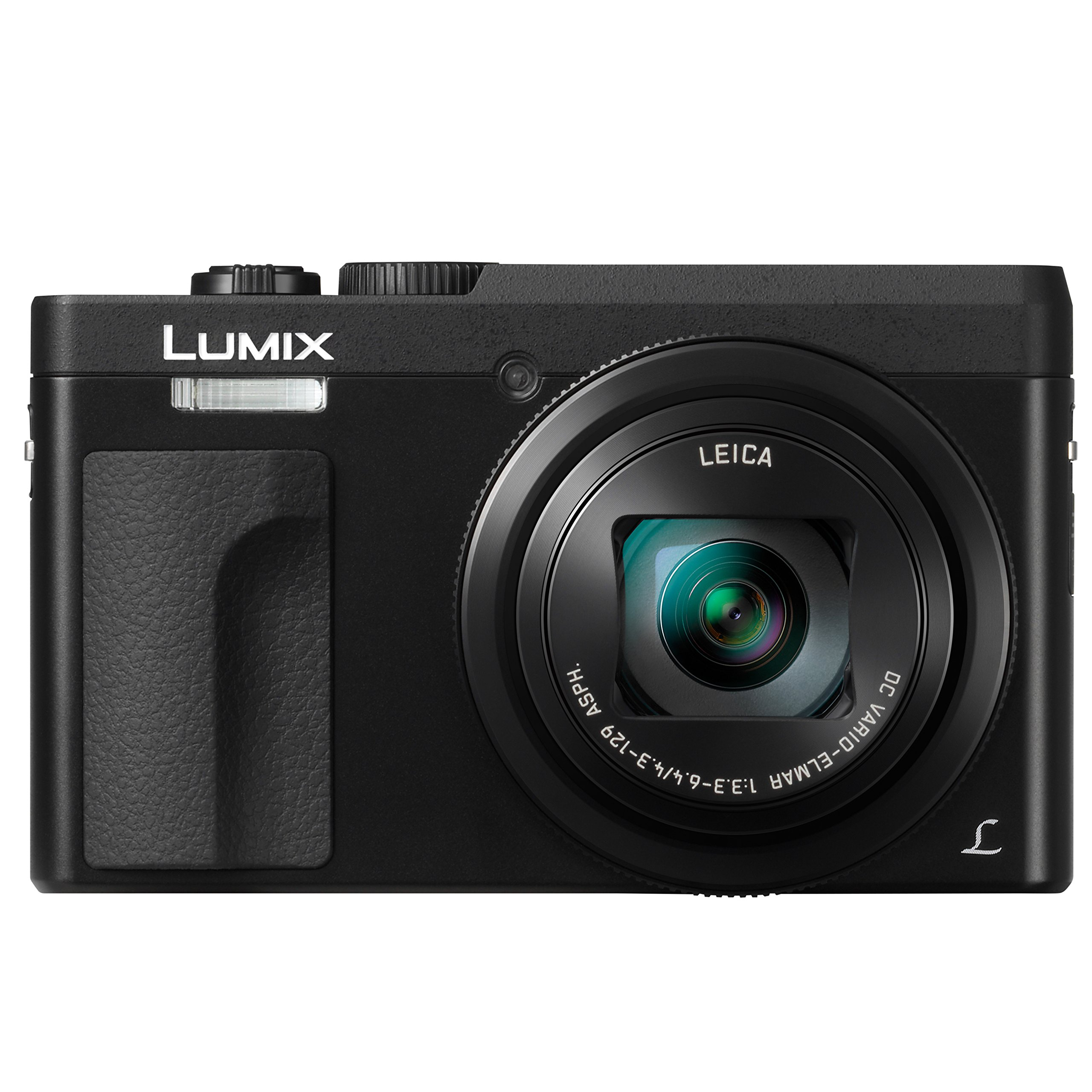 PANASONIC LUMIX DC-ZS70K, 20.3 Megapixel, 4K Digital Camera, Touch Enabled 3-inch 180 Degree Flip-front Display, 30X LEICA DC VARIO-ELMAR Lens, WiFi (Black) by Panasonic
