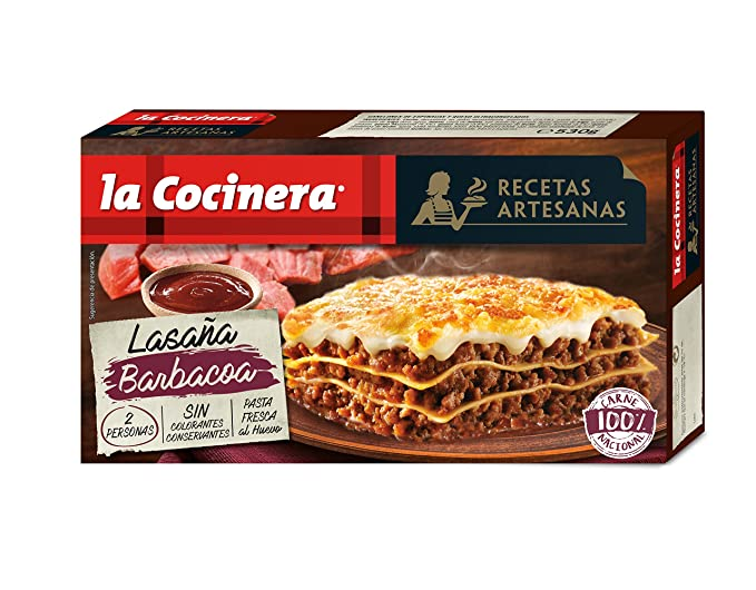 La Cocinera Lasaña Barbacoa - 530 gr
