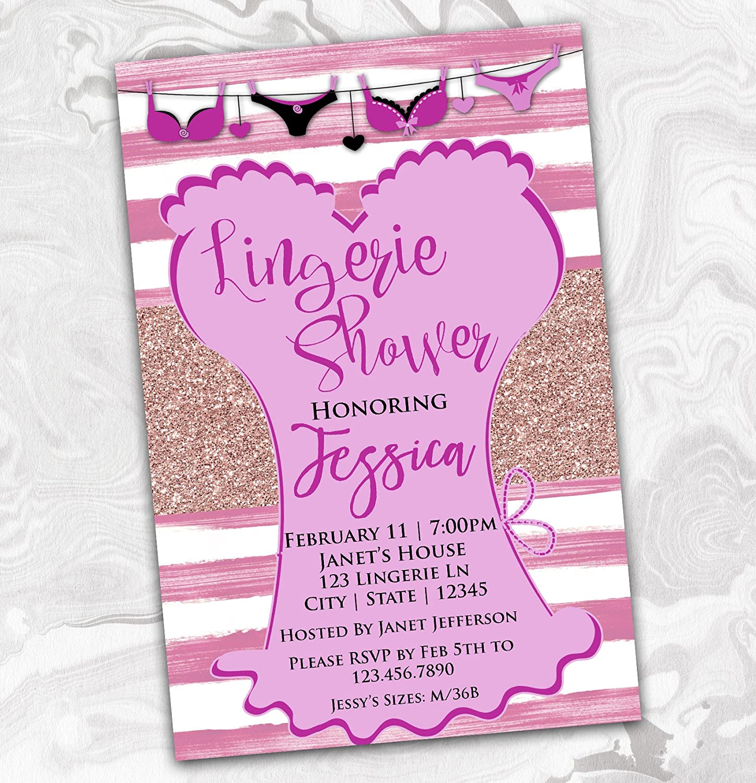 Amazon.com: Lingerie Party Bachelorette Invitation - Bridal Shower ...