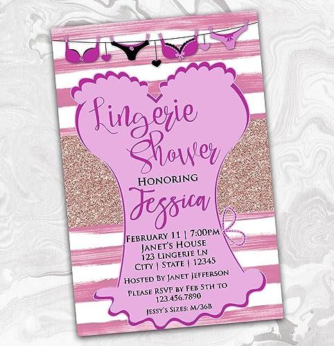 Amazon Com Lingerie Party Bachelorette Invitation Bridal Shower