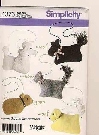 Patrón de costura Simplicidad 4376 - uso para hacer - Animal ...