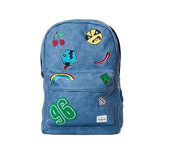 Espiral Monocromo Parche OG Mochila, Unisex, Backpack, Azul, Small