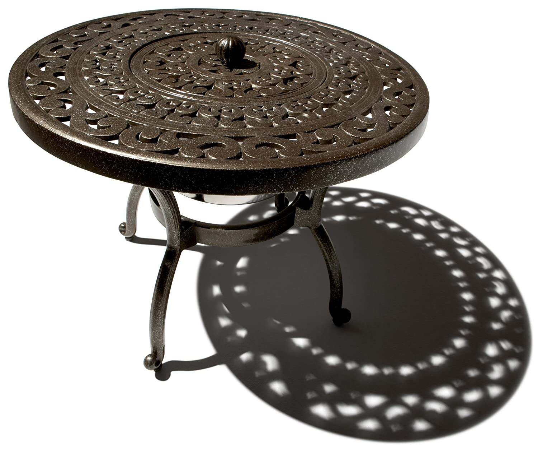 Charming Amazon.com: Strathwood St. Thomas Cast Aluminum Side Table With Ice Bucket:  Garden U0026 Outdoor