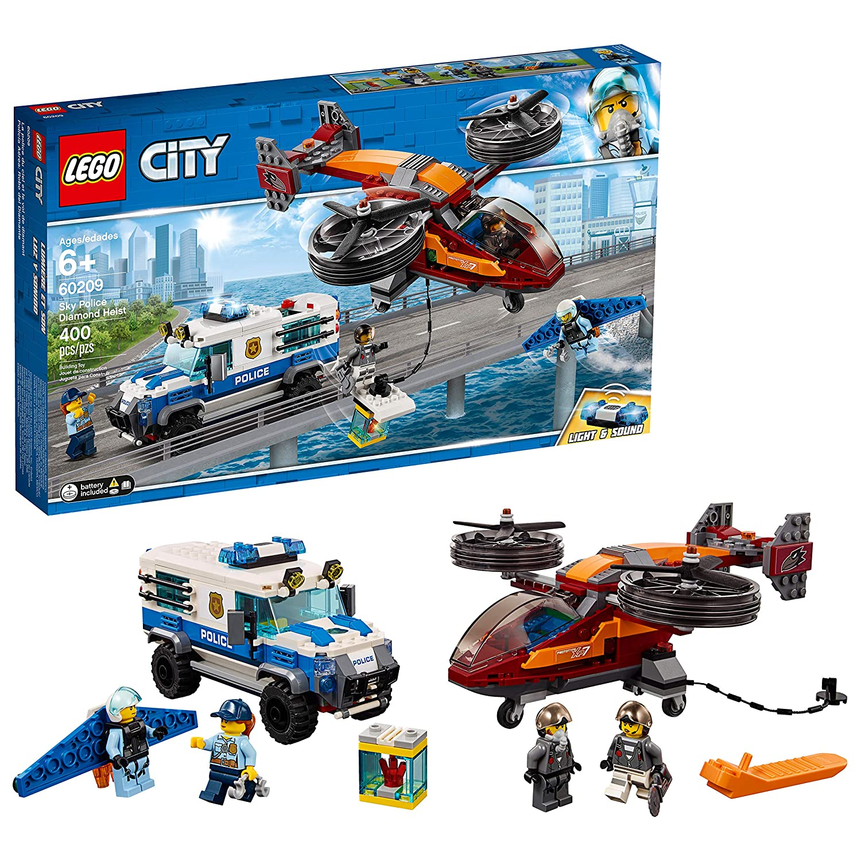 LEGO City Sky Police Diamond Heist 60209 Building Kit, 2019 (400 Pieces)