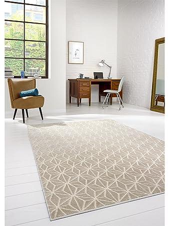 benuta Teppich Diamond Beige 120x170 cm | Moderner Teppich für ...