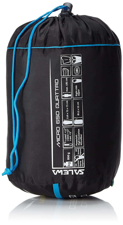 SALEWA Micro 650 Quattro SB - Saco de Dormir, Color Azul, Talla única: Amazon.es: Deportes y aire libre