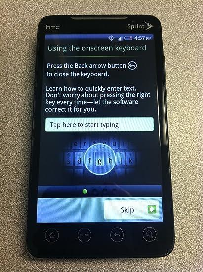 amazon com sprint htc evo 4g smart phone white cell phones rh amazon com Sprint HTC EVO 4G Size Sprint HTC Phones