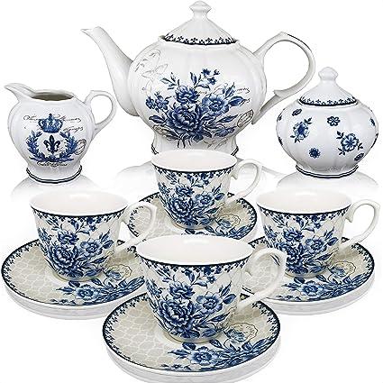 Amazon Com Btat Tea Set China Tea Set Tea Service Tea Cups