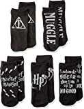 Harry Potter Foil Deathly Hallows Mischief Managed 5 Pack Ankle Socks