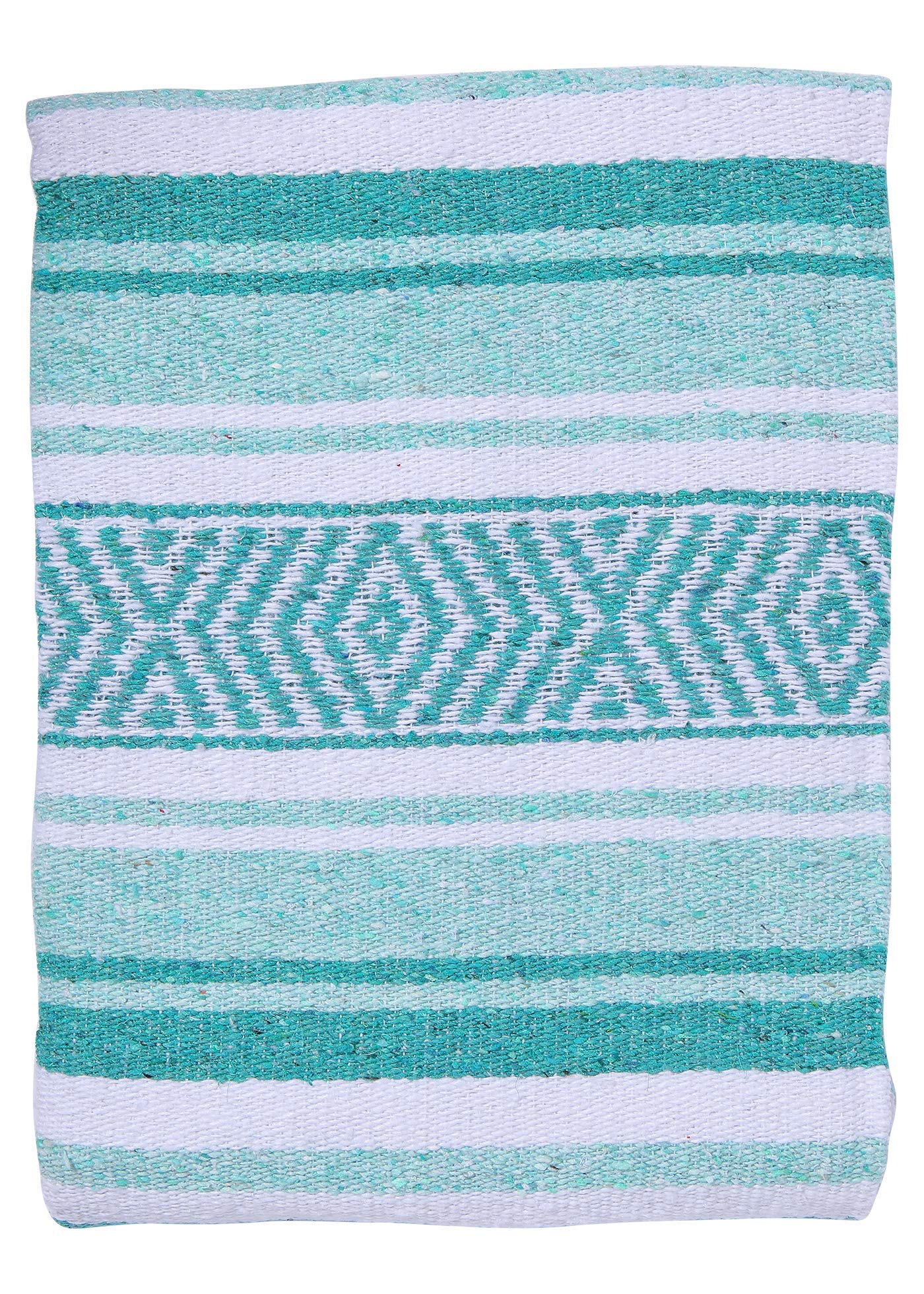 El Paso Designs Mexican Yoga Blanket Colorful 51in x 74in Studio Mexican Falsa Blanket Ideal for Yoga, Camping, Picnic, Beach Blanket, Bedding, Home Decor Soft Woven (Cancun) by El Paso Designs (Image #3)