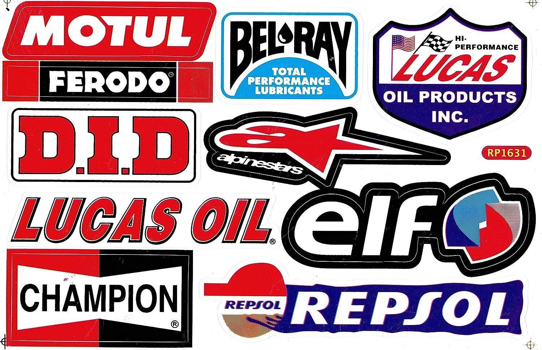 Sponsor Sticker ATV Supercross Motocross Autocollant feuille 27x 18 cm