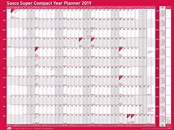 Mounted Planrecord 2019 Wall Planner 915x610mm