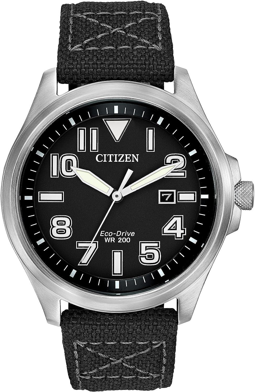 para Hombre Reloj Infantil de Cuarzo con Citizen analógica y Tela Correa
