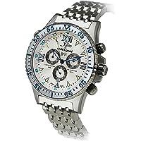 Xezo Air Commando de la Hombres Swiss-Quartz Cronógrafo Diver Reloj de d45-s