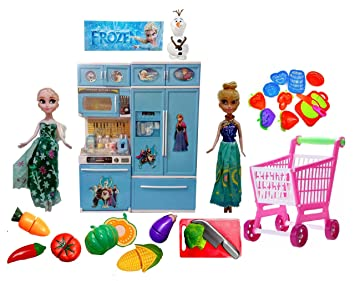 Buy Halo Nation Frozen Modern Kitchen Set With Elsa And Anna Dolls