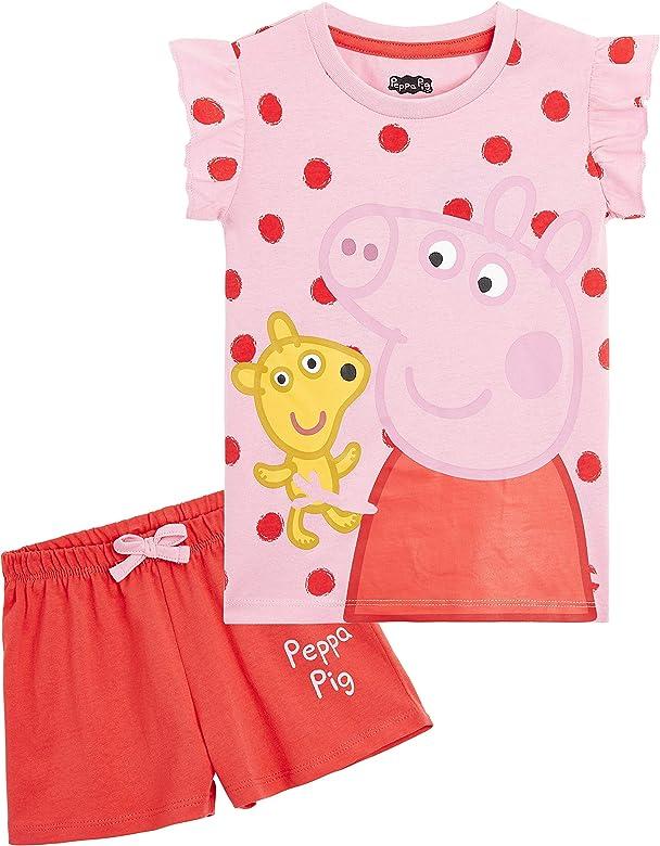 Peppa Pig Pijama Niña, Ropa Niña 100% Algodon, Conjunto 2 Piezas Pijama Niña Verano, Pijama Corto Niña para Playa Vacaciones, Regalos Originales para Niñas Edad 2-6 Años (6 años): Amazon.es: Ropa y accesorios