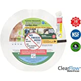 Clear Flow Water Hose 25-Feet-by-5/8-Inch Expandable Flat Polyurethane Hose
