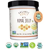 GREENBOW Organic Honey w/ Fresh Royal Jelly - 100% USDA Certified Organic, Gluten Free, Non-GMO - Highest Quality Whole Food Organic Royal Jelly Honey (22oz_Fresh Royal Jelly contents 30,000 mg)