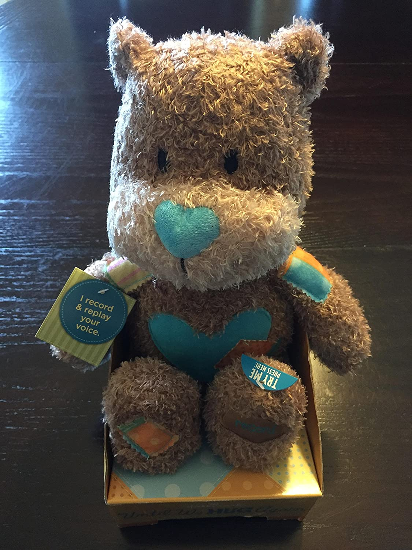 Recordable Teddy Bear Walmart, Amazon Com Hallmark Plush Kid3142 Until We Hug Again Recordable Bear Toys Games