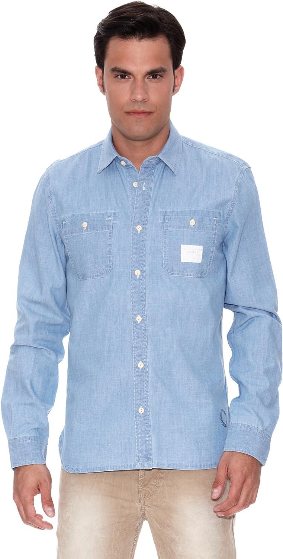 Pepe Jeans London Camisa Hombre Zorba Azul L: Amazon.es: Ropa y accesorios