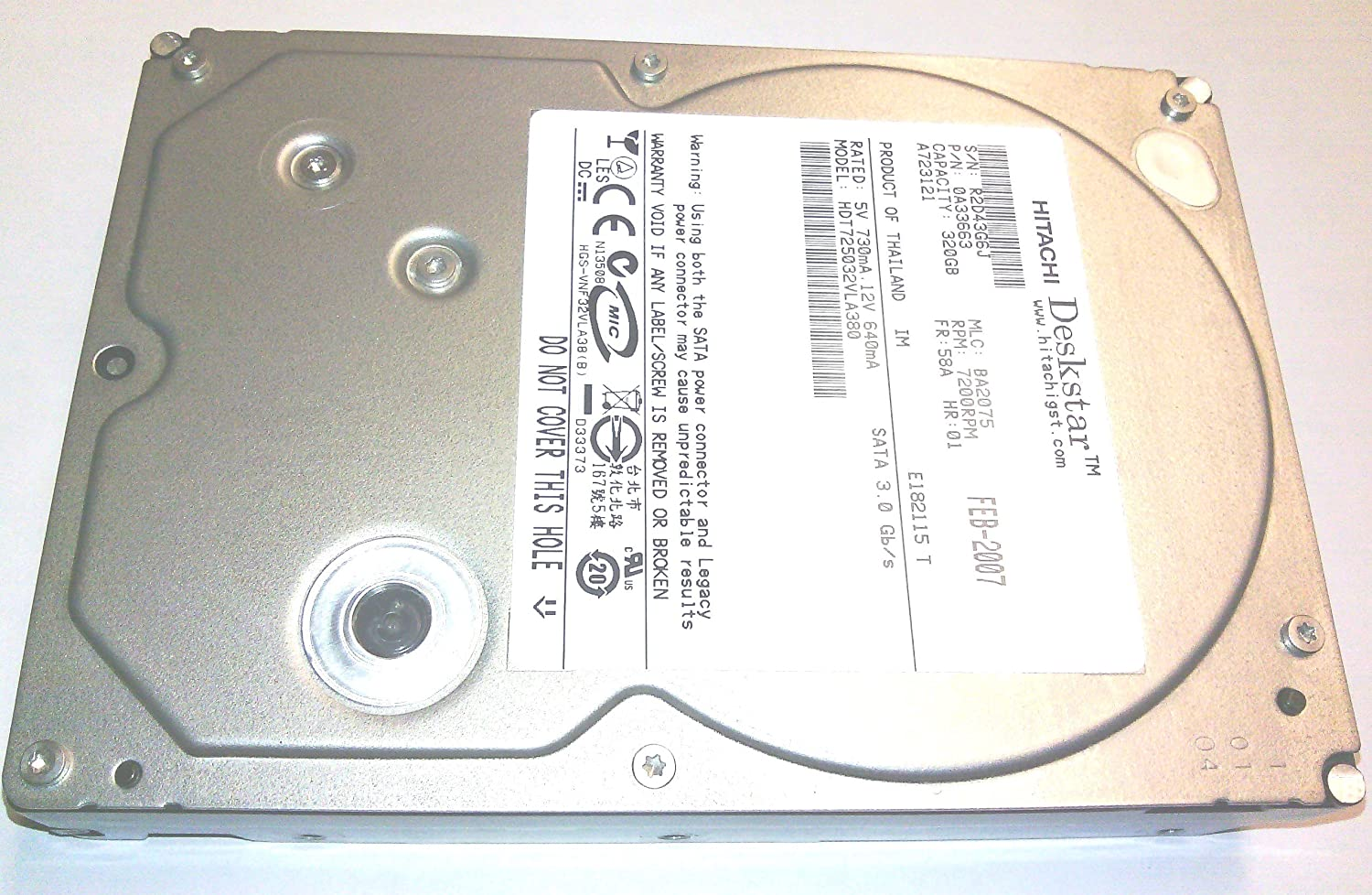 Hitachi HDT721032SLA360 320GB Hard Drive