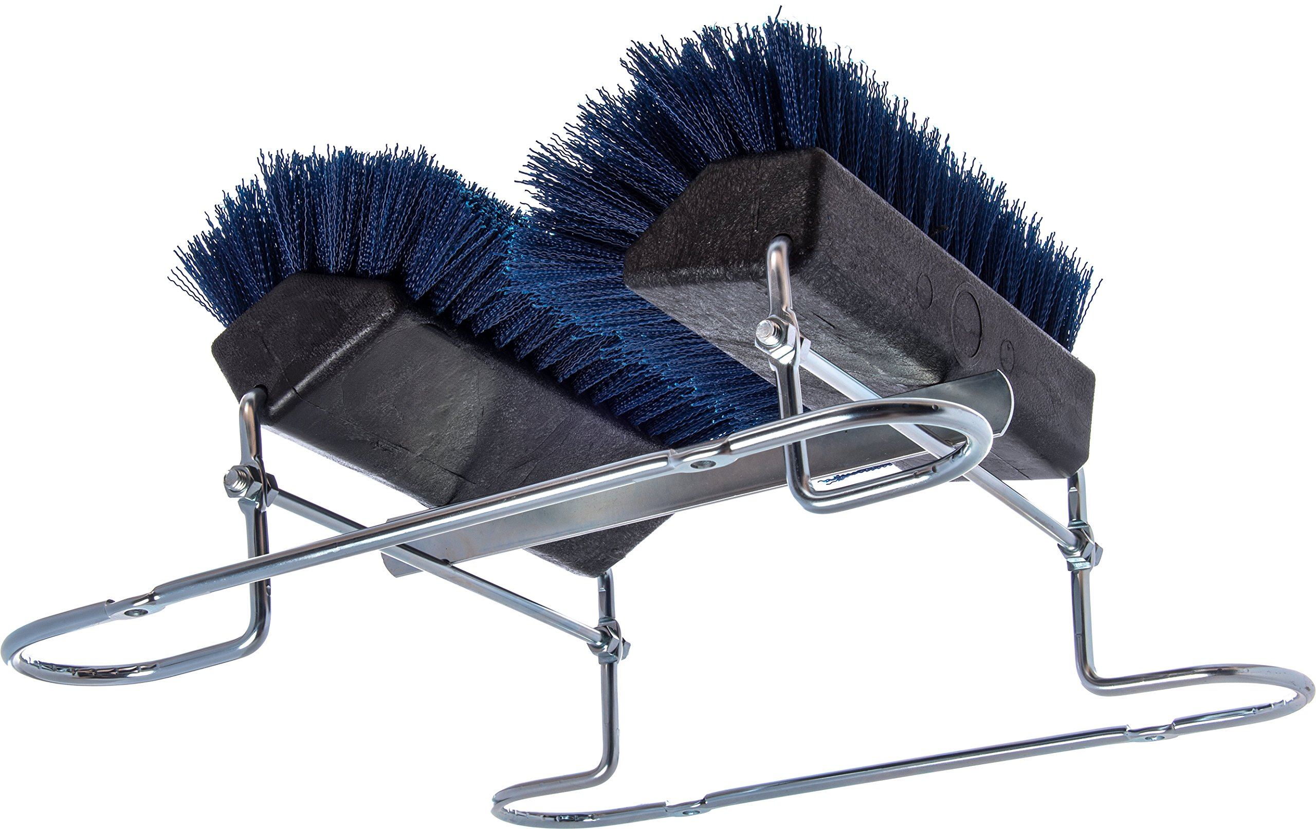 Carlisle 4042414 Commercial Boot 'N Shoe Brush Scraper with Chrome Plated Steel Frame, Blue by Carlisle (Image #4)