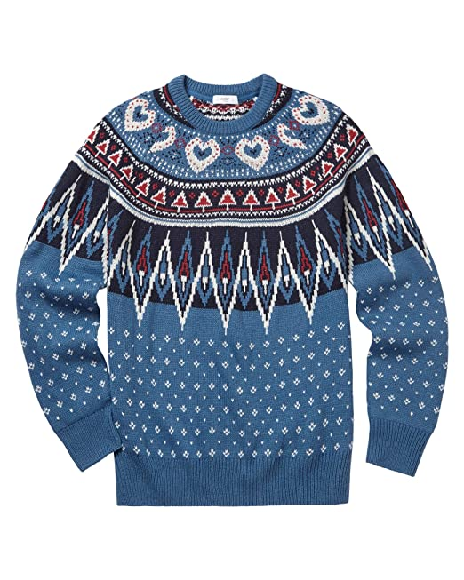 9983c665c Cotton Traders Mens Womens Traditional Patterned Crew Neck Jumper:  Amazon.co.uk: Clothing