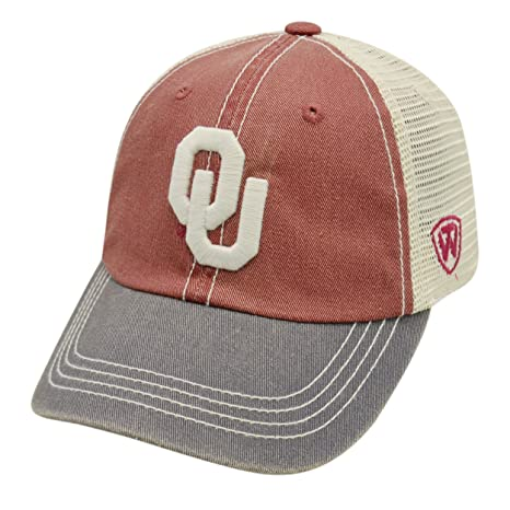 newest b60e7 9a127 Amazon.com   Oklahoma Sooners Offroad Tri-Tone Youth Adjustable Hat    Sports   Outdoors