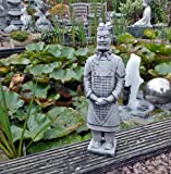 Sfeinfigur Chinesischer Terrakotta Krieger Soldat Steinguss Gartenfigur 02