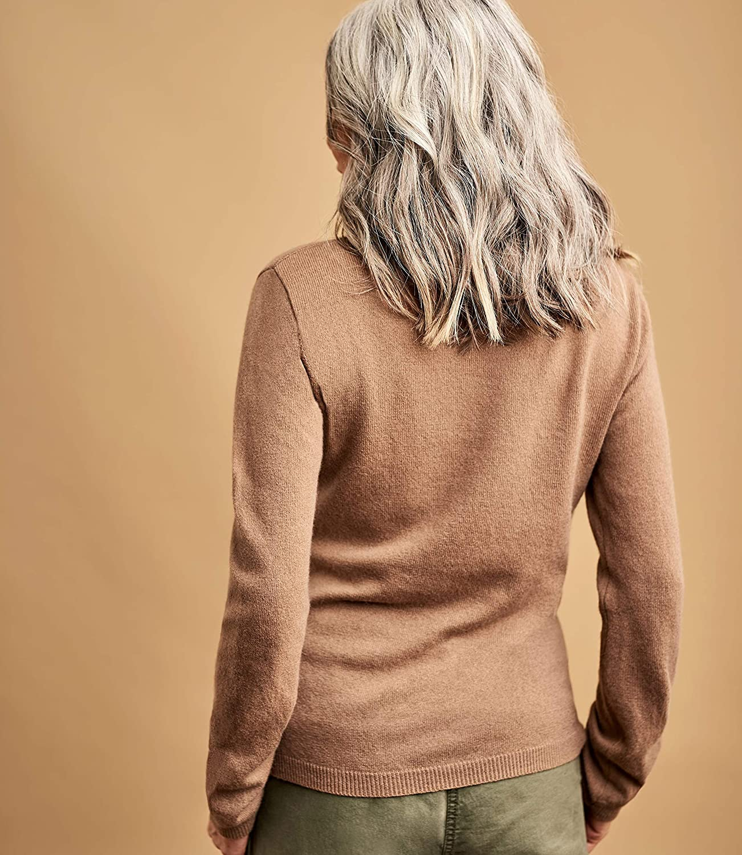Wool Overs Col Roulé Ajusté À Femme Pull Cachemireamp; Mérinos hQsrtd