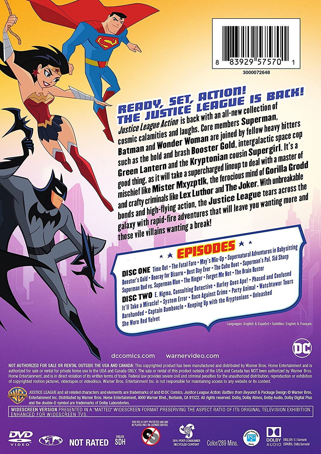 Amazon.com: Justice League: Action Season 1 Part 2 (DVD ...