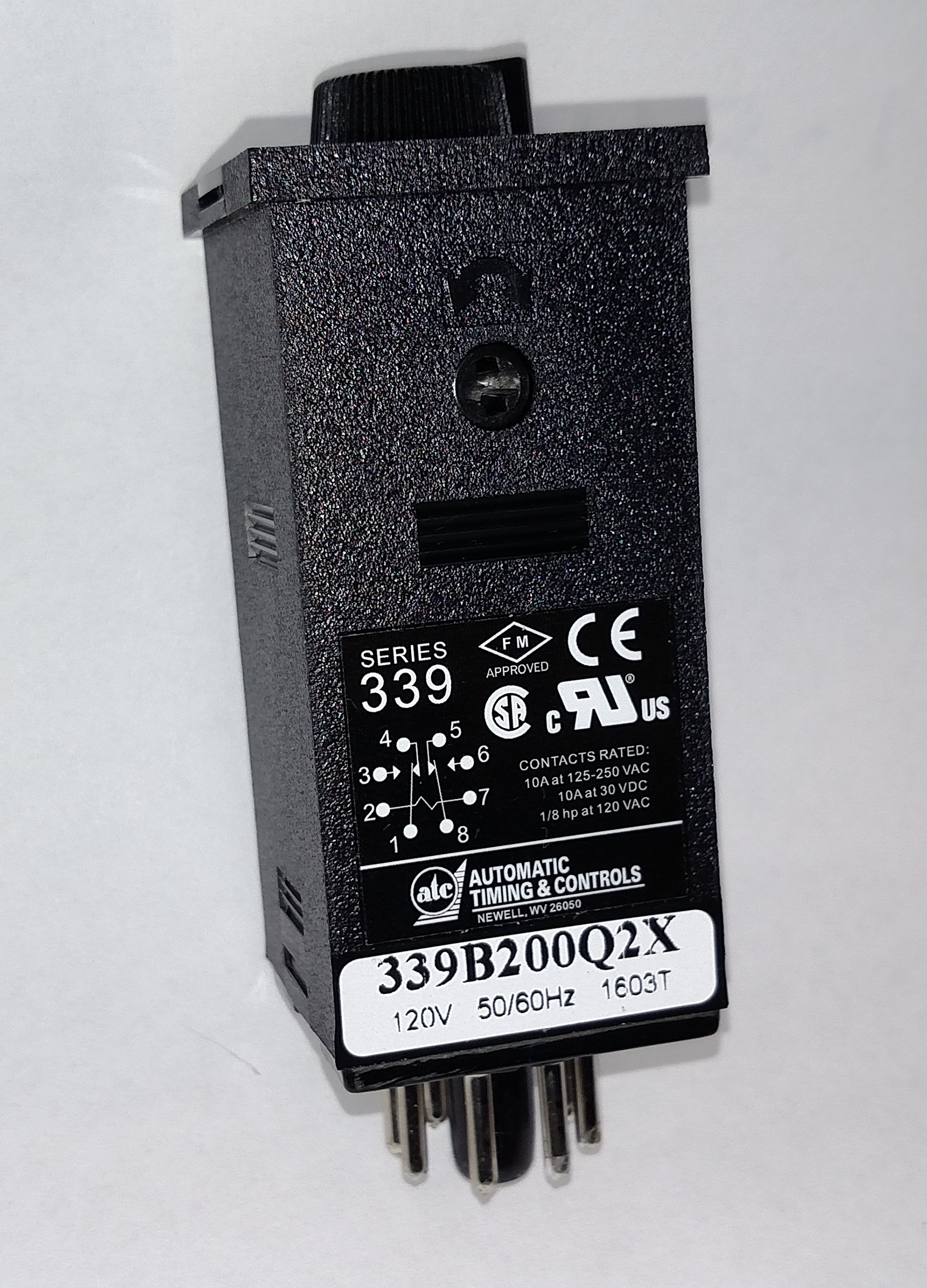 ATC 339B-200-Q-2-X Plug-In Adjustable TDR, 6 Dial-Selected Ranges, 120 VAC, 50/60 Hz, On-Delay, Interval Mode, Standard